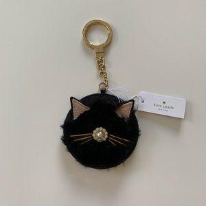Kate Spade Fuzzy Cat Key Chain